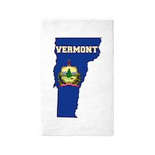 Vermont Flag 3'x5' Area Rug
