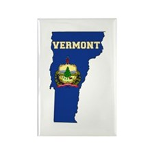Vermont Flag Rectangle Magnet