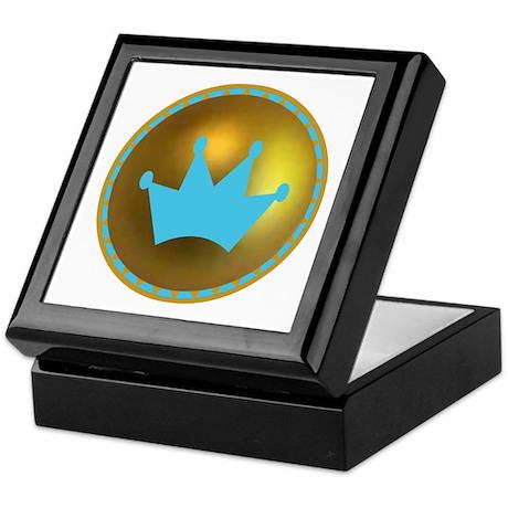 Blue & Gold Crown Keepsake Box