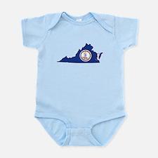 Virginia Flag Infant Bodysuit