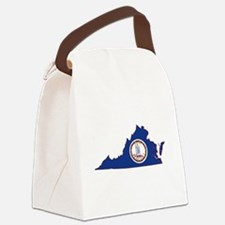 Virginia Flag Canvas Lunch Bag