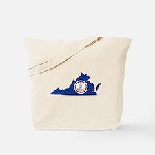 Virginia Flag Tote Bag