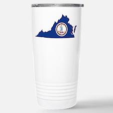 Virginia Flag Stainless Steel Travel Mug
