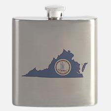 Virginia Flag Flask