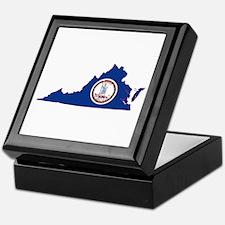 Virginia Flag Keepsake Box