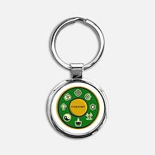 Coexist | Round Keychain