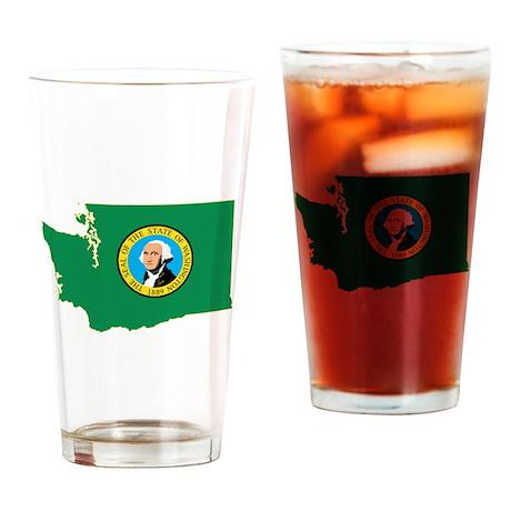 Washington Flag Drinking Glass