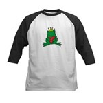 Frog Prince Crown Heart Cartoon Kids Baseball Jers