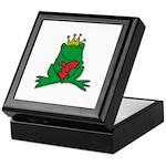 Frog Prince Crown Heart Cartoon Keepsake Box