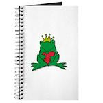 Frog Prince Crown Heart Cartoon Journal