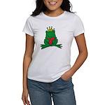 Frog Prince Crown Heart Cartoon Women's T-Shirt