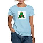 Frog Prince Crown Heart Cartoon Women's Light T-Sh