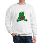 Frog Prince Crown Heart Cartoon Sweatshirt