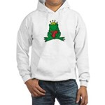 Frog Prince Crown Heart Cartoon Hooded Sweatshirt