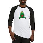 Frog Prince Crown Heart Cartoon Baseball Jersey
