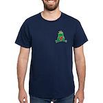 Frog Prince Crown Heart Cartoon Dark T-Shirt
