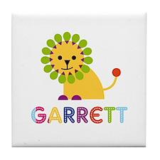 Garrett Loves Lions Tile Coaster