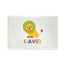 Gavin Loves Lions Rectangle Magnet