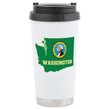 Washington Flag Thermos Mug