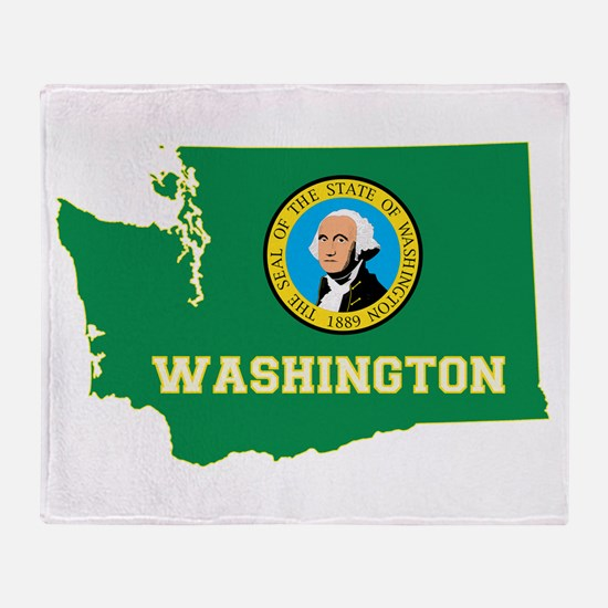 Washington Flag Throw Blanket