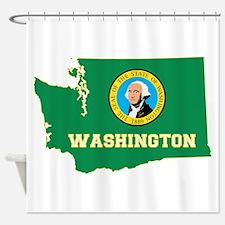 Washington Flag Shower Curtain