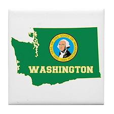 Washington Flag Tile Coaster