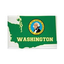 Washington Flag Rectangle Magnet