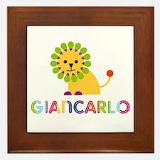 Giancarlo Loves Lions Framed Tile