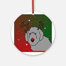 Reindeer Irish Wolfhound Ornament