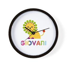 Giovani Loves Lions Wall Clock
