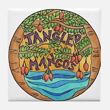 Tangled Mangos Tile Coaster