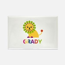 Grady Loves Lions Rectangle Magnet