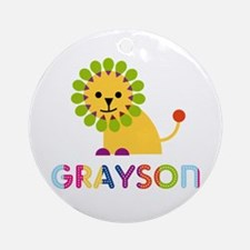 Grayson Loves Lions Ornament (Round)