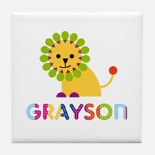 Grayson Loves Lions Tile Coaster