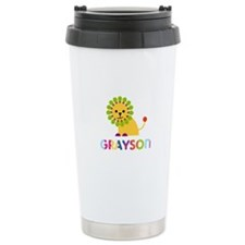 Grayson Loves Lions Travel Mug