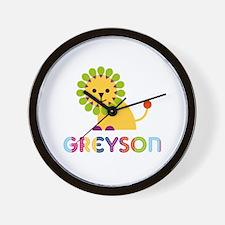 Greyson Loves Lions Wall Clock