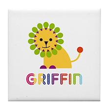 Griffin Loves Lions Tile Coaster
