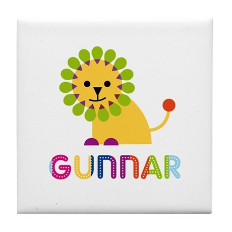 Gunnar Loves Lions Tile Coaster