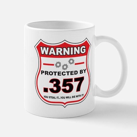 protected by 357 shield Mug