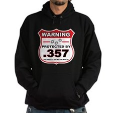 protected by 357 shield Hoodie