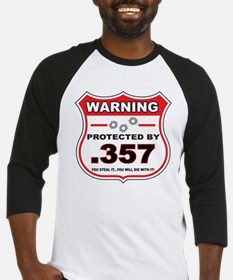 protected by 357 shield Baseball Jersey