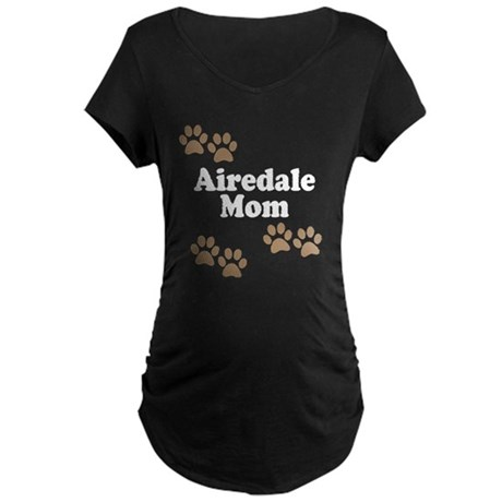 Airedale Mom Maternity T-Shirt