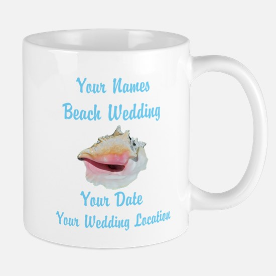 Custom Beach Wedding Mug