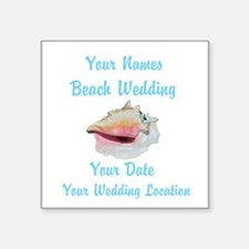 Custom Beach Wedding Sticker