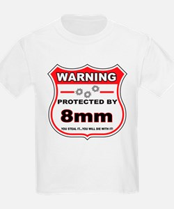 protected by 8mm shield T-Shirt