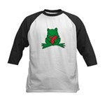 Frog Cartoon Heart Cute Animal Kids Baseball Jerse