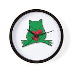 Frog Cartoon Heart Cute Animal Wall Clock