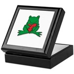 Frog Cartoon Heart Cute Animal Keepsake Box