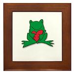 Frog Cartoon Heart Cute Animal Framed Tile