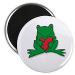 Frog Cartoon Heart Cute Animal Magnet